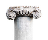 ancient stone classic column isolated