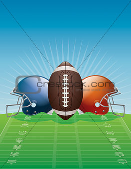 American Football Background Illustration