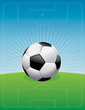 Soccer Football Field Background Illustration