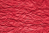 red crumpled paper background