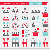 Set of web icons for business finance communication