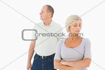 Older couple having an argument