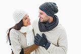 Attractive young couple in warm clothes