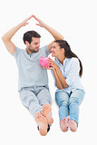 Cute couple considering a mortgage