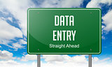 Data Entry on Highway Signpost.
