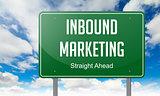 Inbound Marketing on Highway Signpost.