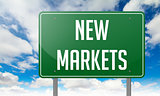 New Markets on Highway Signpost.