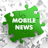 Mobile News on Green Puzzle.