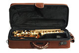 Saxophone In Open Case