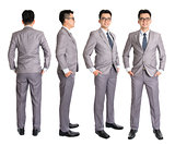 Full body Asian businessman