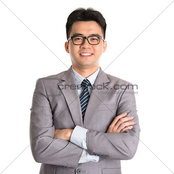 Asian business man arms folded