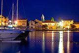 Adriatic town od Sukosan waterfront view