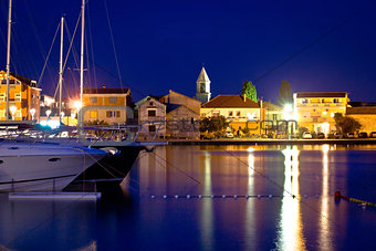 Adriatic town od Sukosan waterfront view