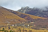 Velebit mountain village in fog