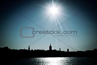 Adriatica Town of Zadar silhouette