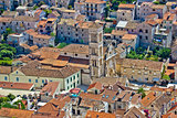Historic town of Hvar aerial view