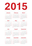 European 2015 year vector calendar