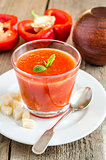 Portion of gazpacho