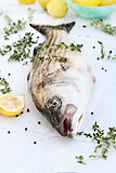 Striped Bass With Fresh Herbs and Lemons