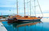 Ships in Makarska