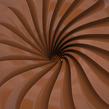 Swirl of brown lines, 3D