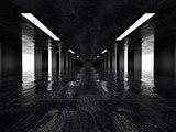 Dark corridor, 3D