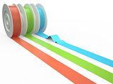 Different colors tape, 3D