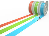 Different colors tape, 3D