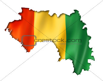 Guinean flag map