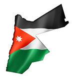 Jordanian flag map