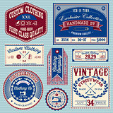vector set of vintage labels for clothes