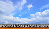 Roof-Tile and Cloudy Blue Sky
