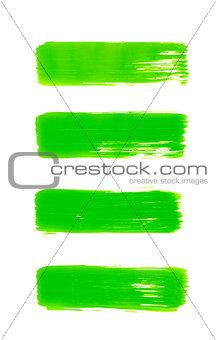 green abstract hand painted watercolor background