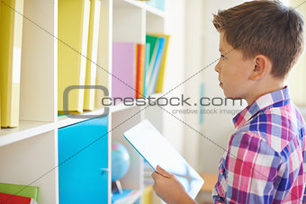 Boy with touchpad