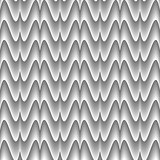 Design seamless monochrome zigzag wave pattern