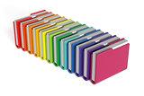 Colorful folders set isolated