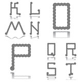 Design ABC letters from K to T