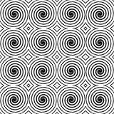 Design seamless monochrome spiral pattern