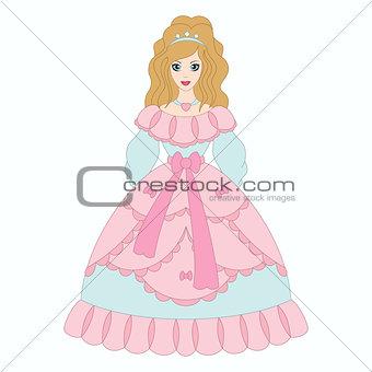 Beautiful princess, girl in ancient dress