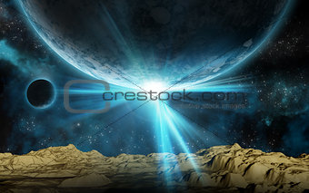 3D space background