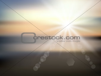 Abstract beach background