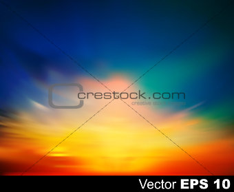 abstract nature sky background with sunrise