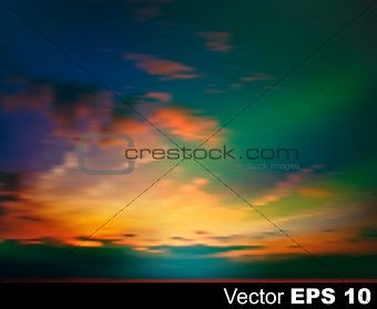 abstract nature sky background with pink sunrise