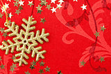 Golden Snowflake and Stars - Christmas decoration
