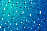 Big Water Drops Abstract Background - super macro