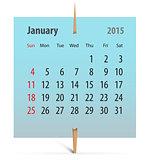 Calendar 2015_January