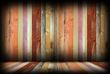 colorful wooden interior room backdrop