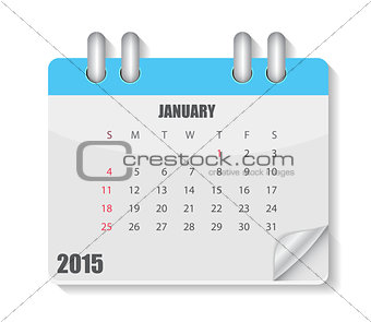 Calendar 2015 Year. Vector Illustration