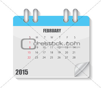 Calendar 2015 Year. Vector Illustration