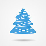 Vector Illustration of Christmas Tree Icon